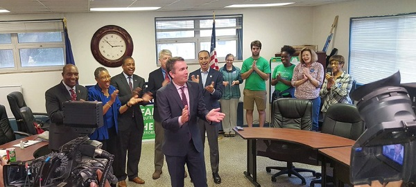 Ralph Northam with AFT members